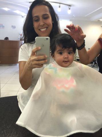 Cortando cabelo do bb1